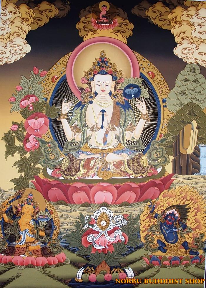 Tìm hiểu tranh Thangka Tây Tạng NGHỆ THUẬT THỊ GIÁC VÀ TÔN GIÁO 10