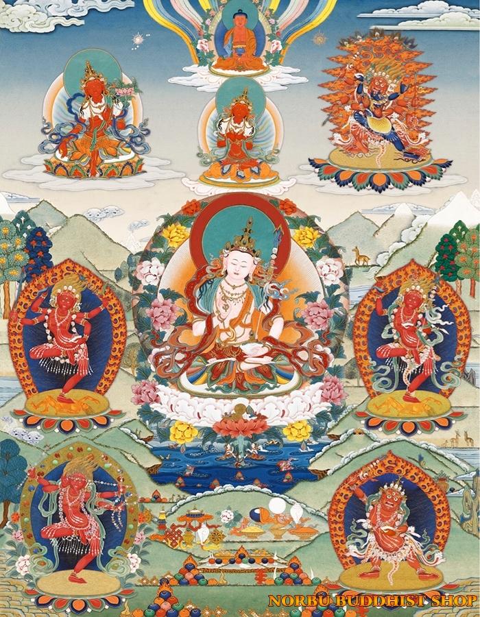 Tìm hiểu tranh Thangka Tây Tạng NGHỆ THUẬT THỊ GIÁC VÀ TÔN GIÁO 14