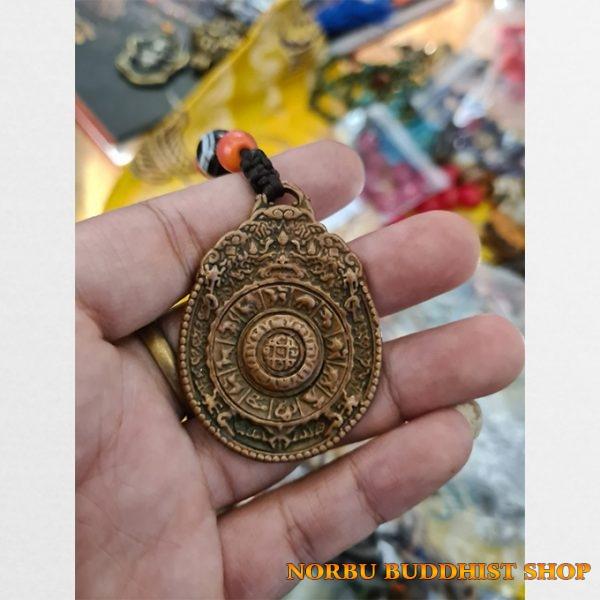 Cửu cung bát quái phù hàng cổ từ Lhasa Tibet Srid-pa-ho Protection Mandala
