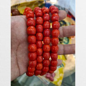 Lưu li liuli đỏ lu thống mới Tây Tạng nặng đặc và mà đẹp chuỗi 108 viên, chất lượng tốt nhất