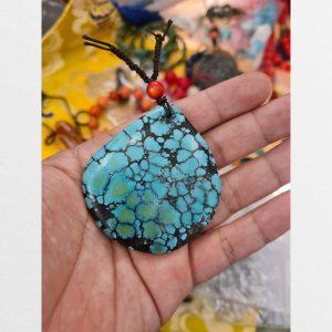 Miếng turquoise từ Tây Tạng lam ngọc cỡ đại hàng cổ vân đẹp hiếm gặp