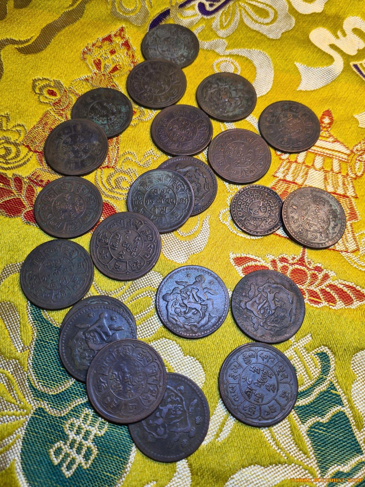 Old coin Tibet - tiền xu cổ Tây Tạng thời xưa 4