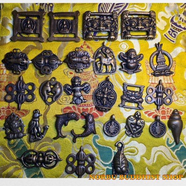 Old thokcha Tibet - thongcha bùa hộ mệnh người Tạng bằng Đồng cổ đẹp và lâu đời