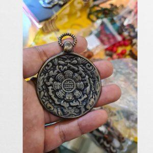 Tibet Srid-pa-ho Protection Mandala cửu cung hàng cổ Tây Tạng độc bản đẹp