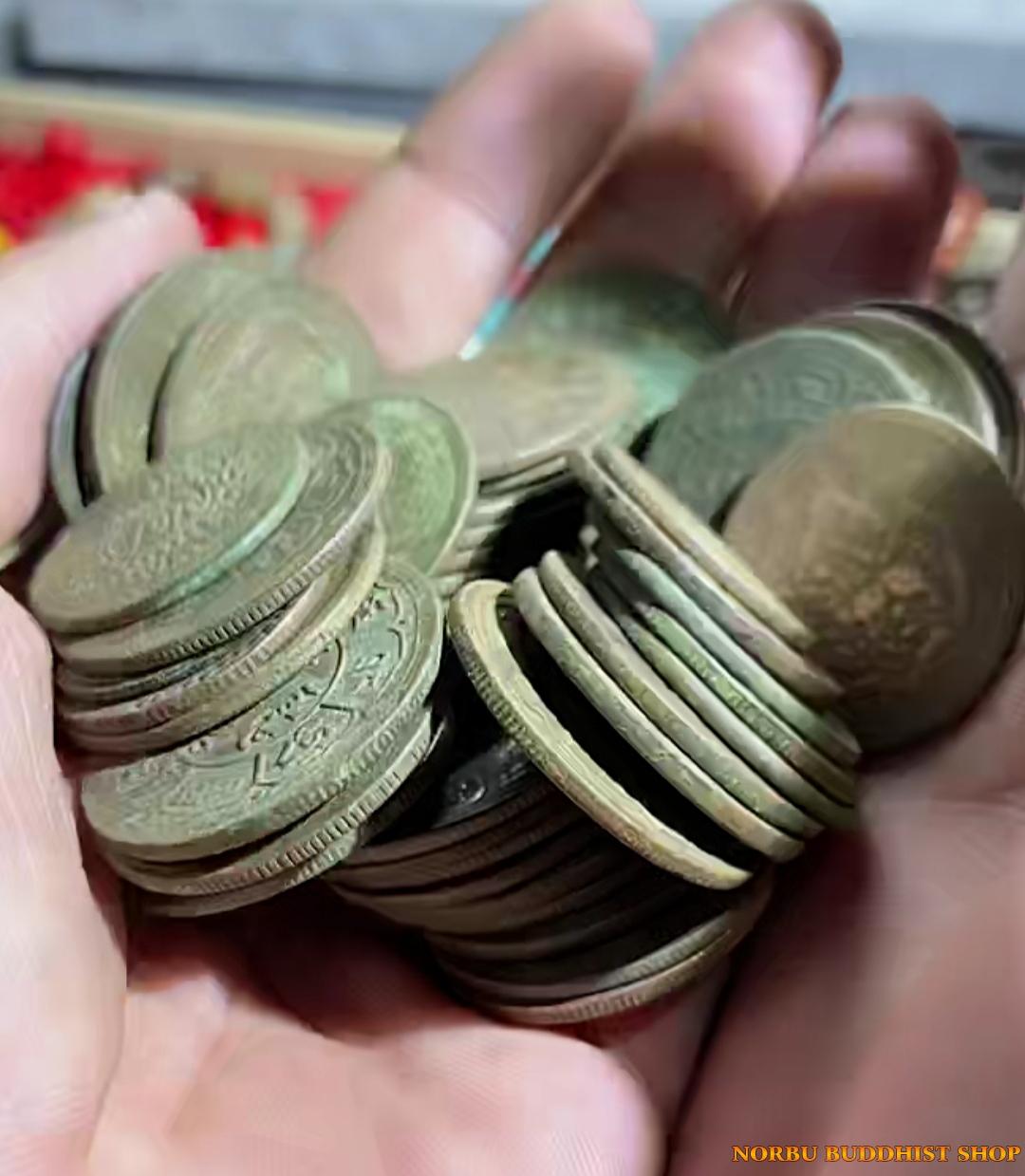 Tiền xu cổ của Tây Tạng xưa - Tiền xu tâm linh Old Coin Tibet 2