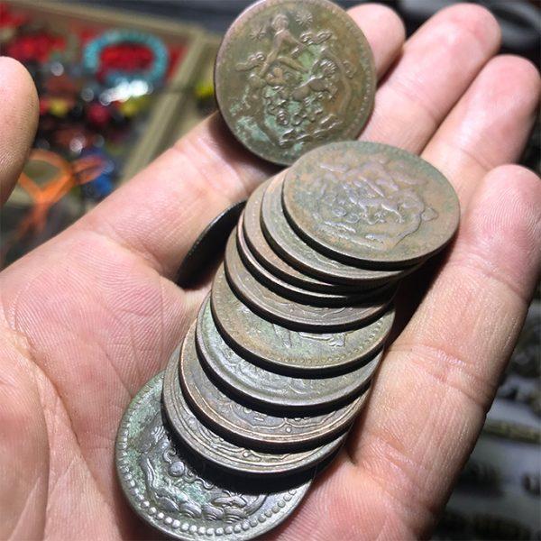 Tiền xu cổ của Tây Tạng xưa - Tiền xu tâm linh Old Coin Tibet