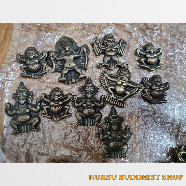 10 mặt thokcha Garuda Kim sí điểu đẹp cũ từ Lhasa Tibet đặt về hàng cực hiếm tại VN