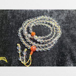 Chuỗi tràng hạt 108 thủy tinh nước 8mm đã mix với dây ngũ sắc