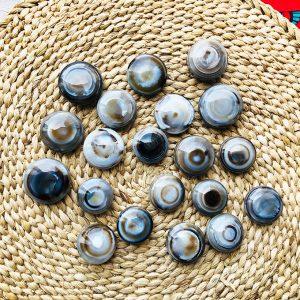 Dzi bead mắt dê mã não thiên nhiên chất vân đa dạng