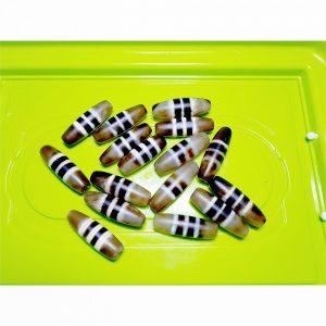 Tổng hợp chong dzi bead 3 sọc trắng giá rẻ cỡ nhỏ