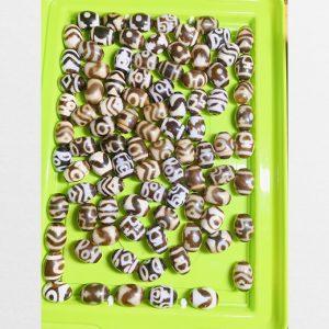 Tổng hợp dzi bead tròn giá rẻ nhiều vân dễ mix