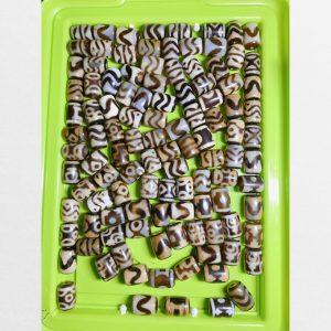 Tổng hợp dzi bead trụ ngắn hàng rẻ chất mã não non nhiều vân đặc sắc mix vòng