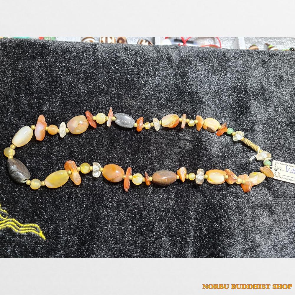 Vòng mã não thiên nhiên đeo cổ đẹp các hạt mã não đẹp tự nhiên vintage