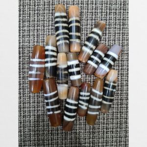 14 viên chong dzi bead các sọc hàng chung dzi sọc trắng mã não chất lượng nhất