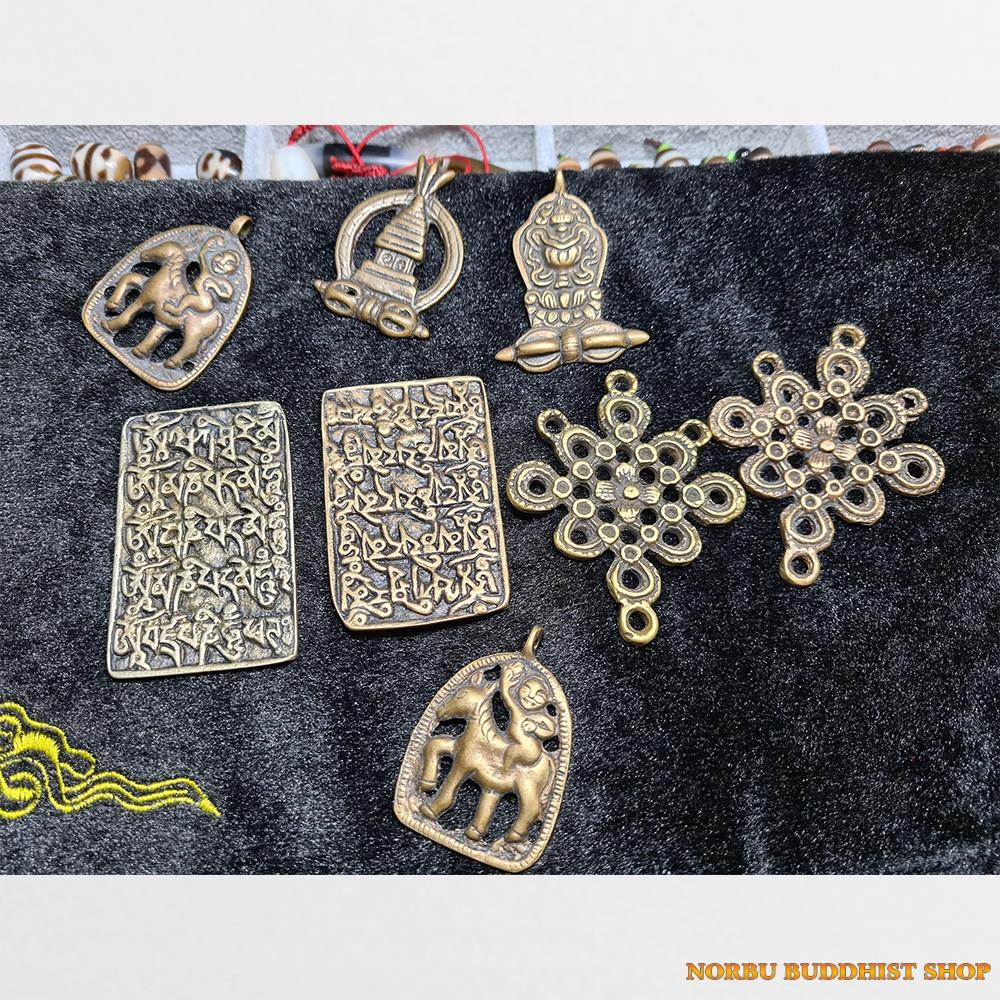 Thogcha bảo tháp nút thắt cát tường mặt chú om mani padme hum đồng cổ Tây Tạng