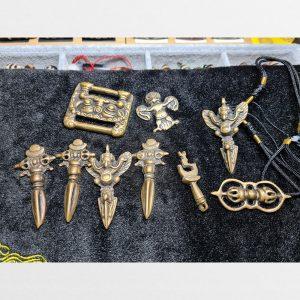 Thokcha đồng cỗ củ Tây Tạng dao Phurba Garuda pháp khí đeo cổ Mật tông