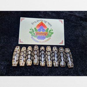 9 viên đá dzi bead 21 mắt hàng B chất đẹp cỡ ngắn dễ mix vòng tay đeo cổ