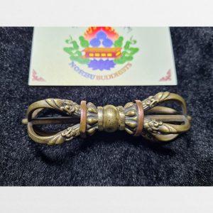 Chày kim cương 5 chấu cỡ vừa bọc đồng hàng Antique Tibet