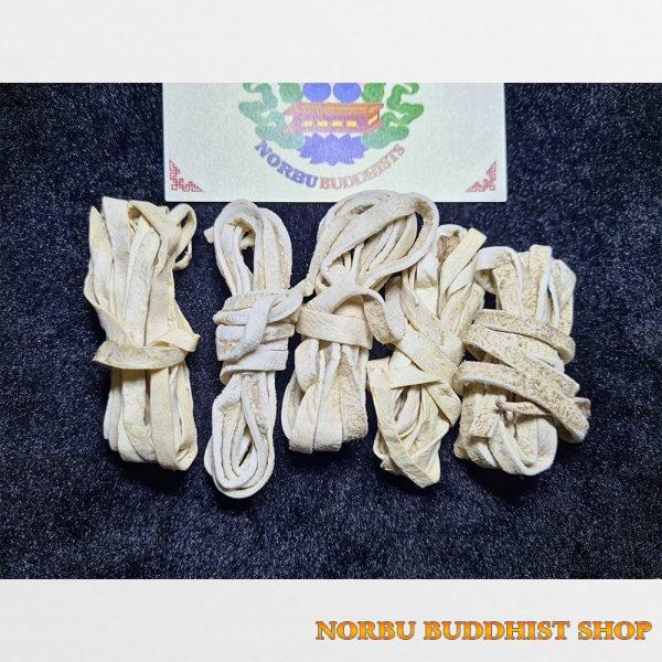 Dây da bò Yak cuộn màu trắng để mix vòng