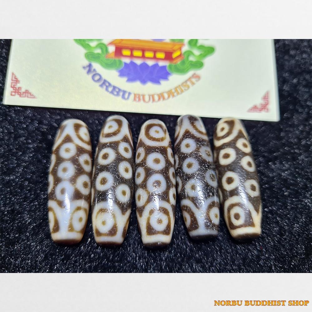 Dzi bead 5 viên thiên châu 21 mắt cỡ nhỏ hàng B+ chất đẹp mắt đẹp size nhỏ dễ mix