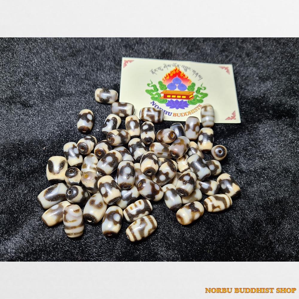 Dzi bead hàng nhỏ trụ ngắn mini mix kèm chất đẹp
