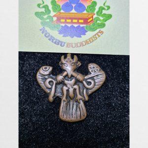 Thogcha Garuda Kim Sí điểu chất đồng nâu xưa hàng Antique Tibet