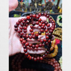 Chuỗi hạt xương trâu yak đỏ sẫm 108 từ Tibet