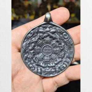 Cửu cung Văn Thù Bát Quái Melong cỡ lớn nền đen antique 11