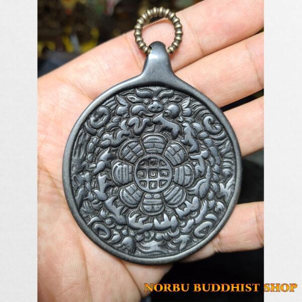 Cửu cung Văn Thù Bát Quái Melong cỡ lớn nền đen antique 13