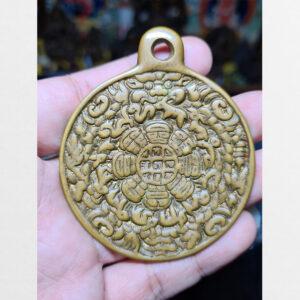 Cửu cung Văn Thù Bát Quái Melong cỡ lớn nền vàng antique 14