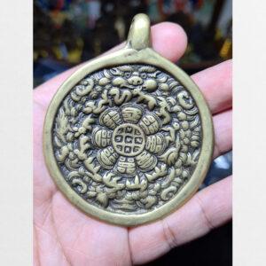 Cửu cung Văn Thù Bát Quái Melong cỡ lớn nền vàng antique 15