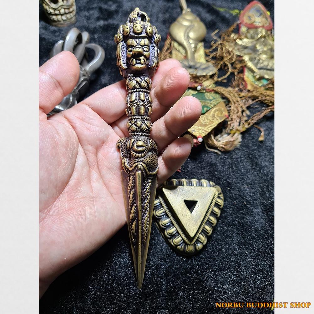 Dao phurba kilaya gồm đế thực hành pháp Phổ Ba Kim Cương Phẫn Nộ chất đồng đẹp Tibet