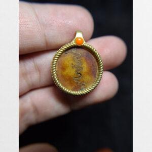 Mặt xương bọc đồng từ Tibet cỡ nhỏ