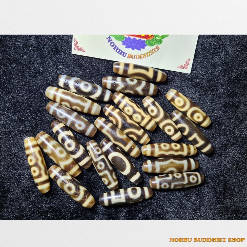 Tổng hợp đá dzi bead hàng C ivory chất đẹp giá tốt nhiều vân mới