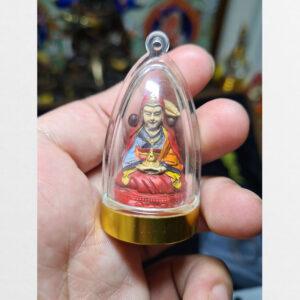 Tsa Tsa Guru Dewa bọc kính yểm thuốc pháp và hạt lúa mạch từ Tibet