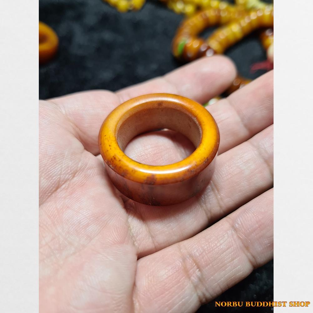 Xương trâu yak ống đồng Antique sưu tầm từ Tibet