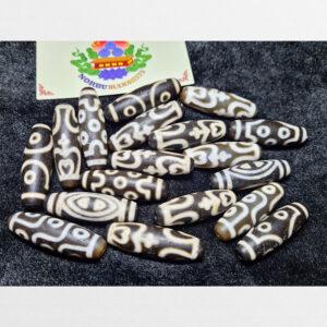Tổng hợp đá dzi bead vân trắng phong hóa mạnh mẽ nhiều vân đẹp