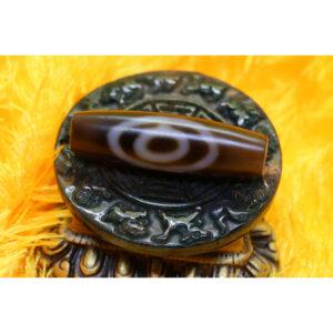 Old dzi bead chong dzi - dzi cổ thiên địa đôi hàng chong dzi 66