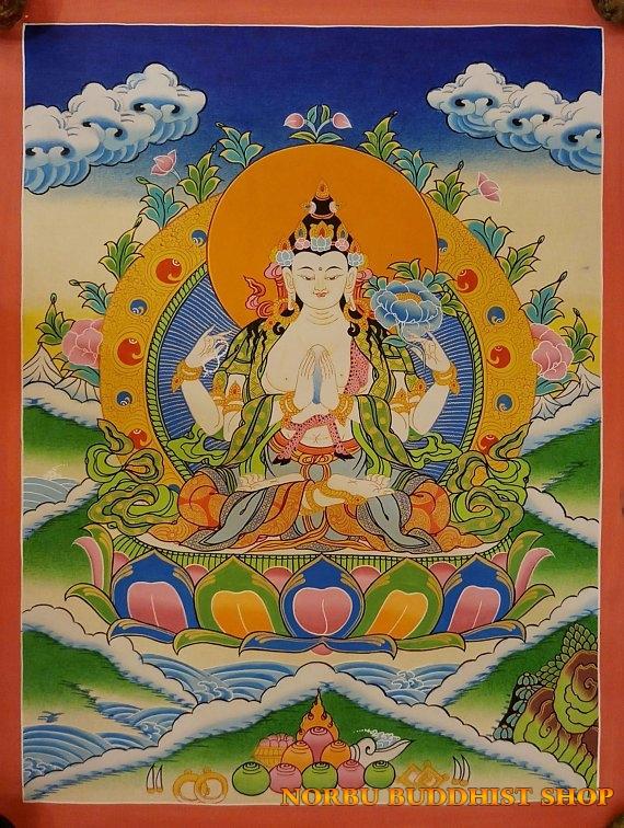 Tìm hiểu nét độc đáo tranh Thangka tâm linh Phật giáo Tây Tạng 2