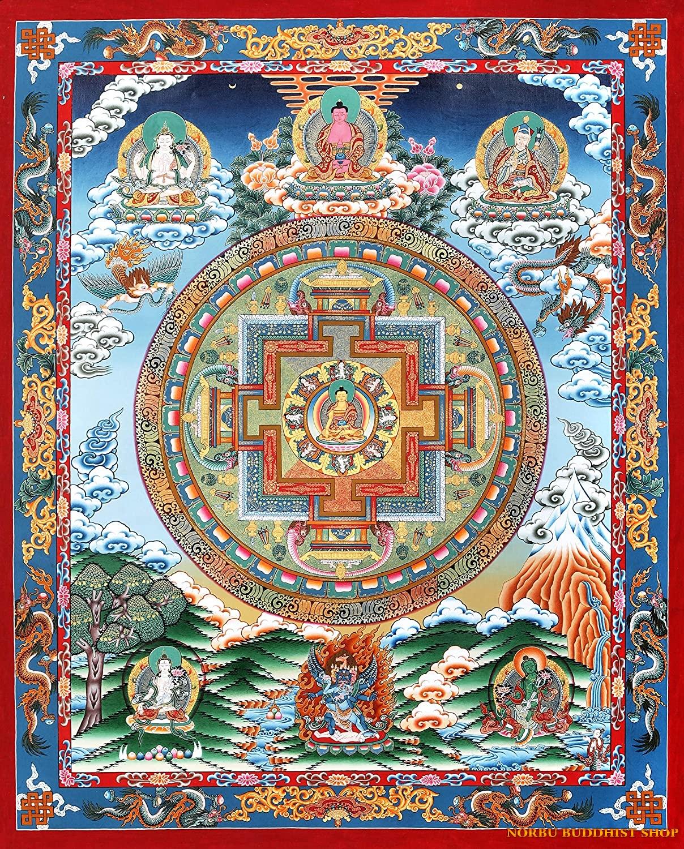 Tìm hiểu nét độc đáo tranh Thangka tâm linh Phật giáo Tây Tạng 3