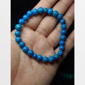 Vòng tay lam ngọc màu xanh thiên nhiên cỡ nhỏ dễ đeo