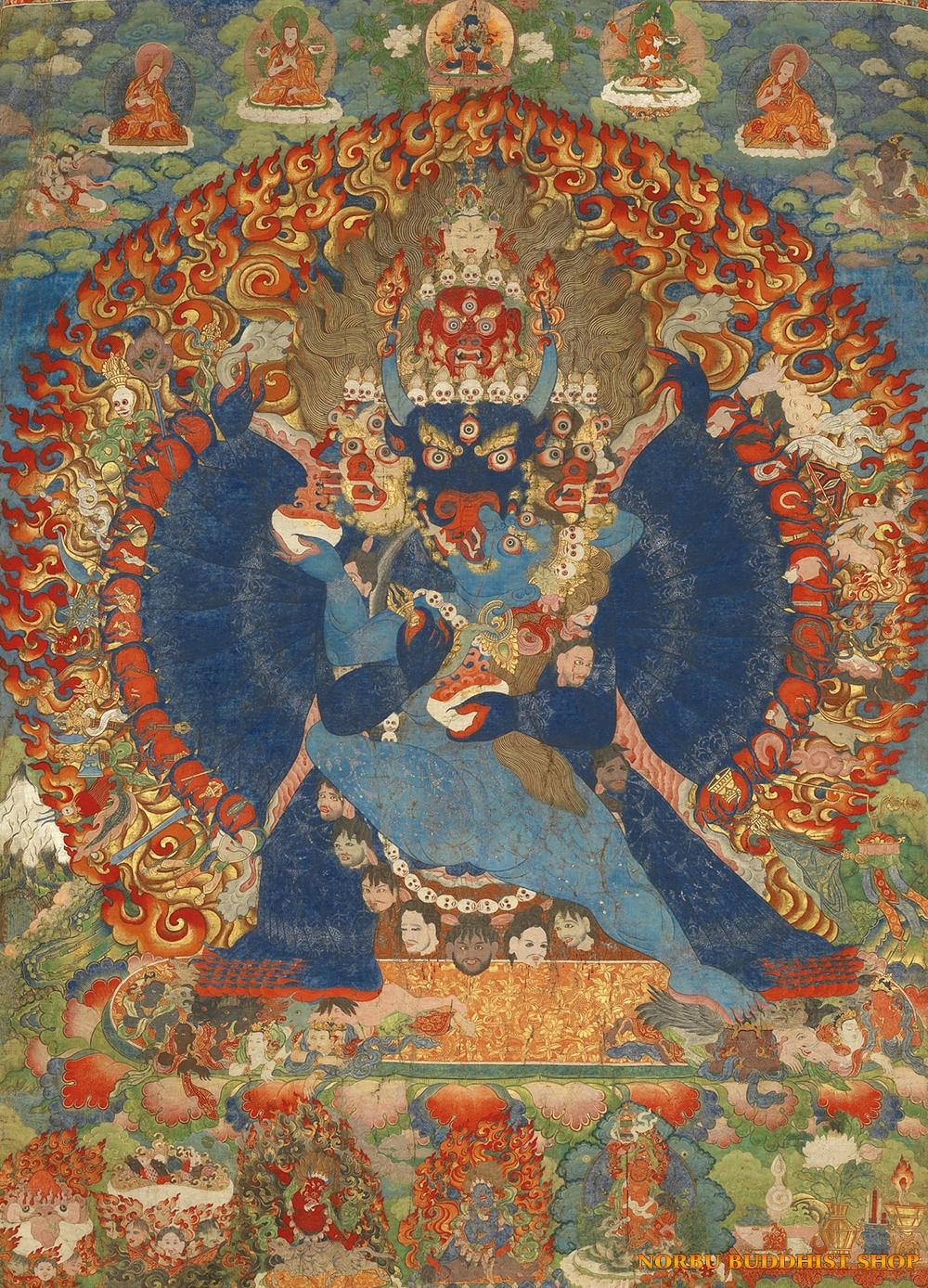 Ý nghĩa tôn giáo trong tranh Thangka Tây Tạng - Tangka Tibet có gì đặc sắc? 1