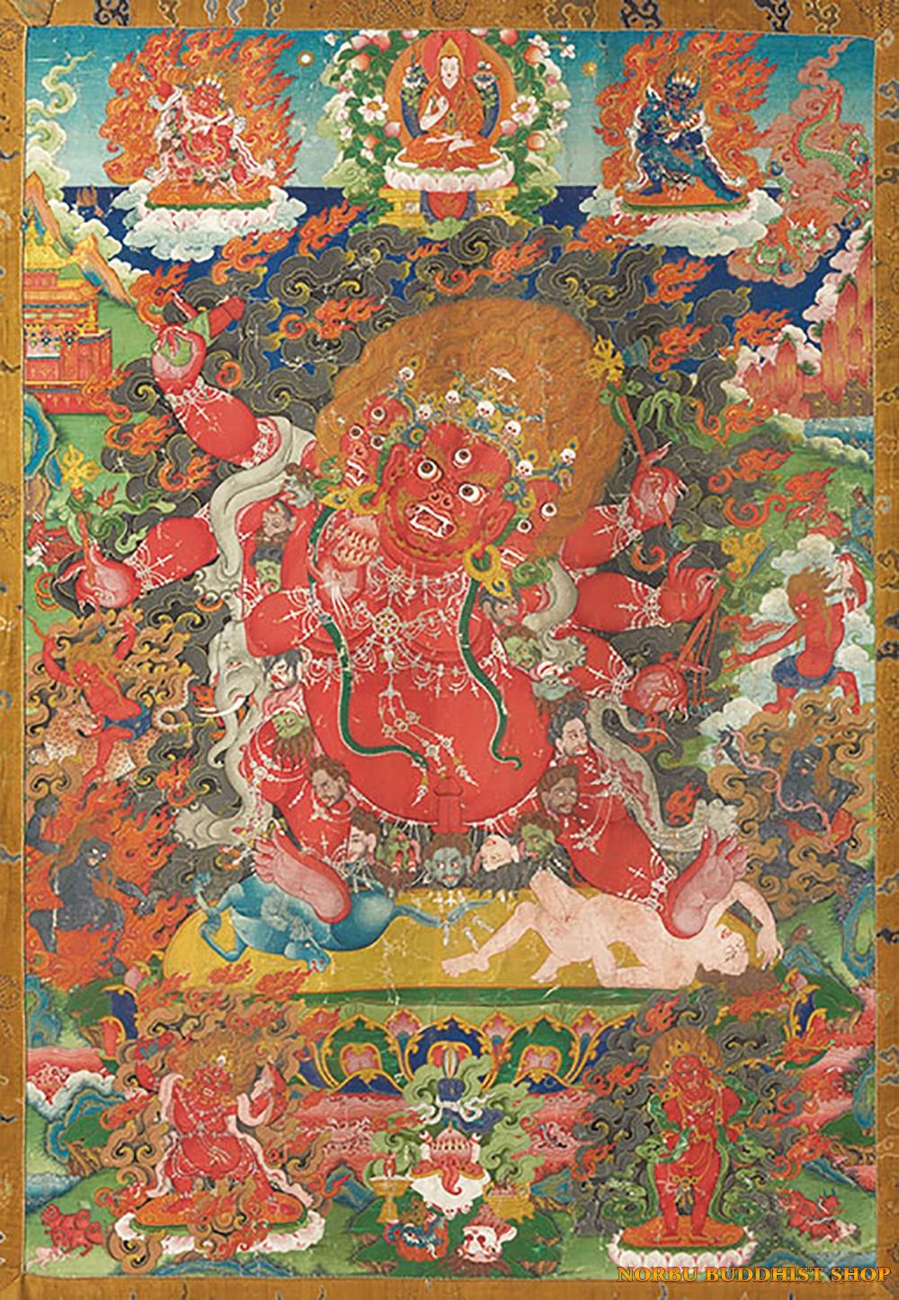 Ý nghĩa tôn giáo trong tranh Thangka Tây Tạng - Tangka Tibet có gì đặc sắc? 3