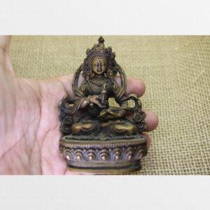 Tôn tượng đồng cỡ nhỏ ngài Kim Cang Tát Đỏa từ Nepal