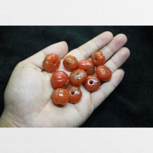 Dã não nam hồng 10 viên pema raka bí ngô chất đỏ đẹp từ Tibet