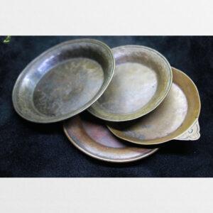 Bộ 4 cái đĩa nhỏ đồng cổ 100 năm Tây Tạng sưu tầm