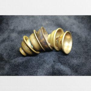 Bộ 5 cái chén đồng cổ 100 năm cỡ nhỏ dâng đèn bơ nước cúng dường