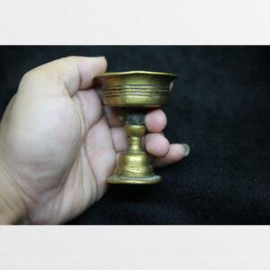 Chén đồng cổ làm đèn bơ cúng dường Tibet