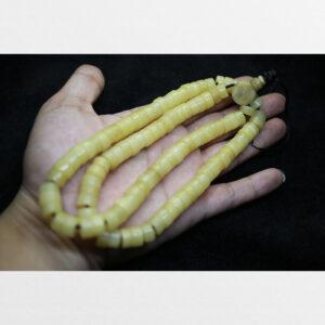 Chuỗi hạt 108 xương yak cỡ lớn trụ dẹt trắng ngà