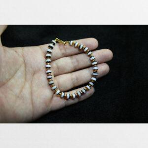 Vòng tay lưu li dạng chong dzi mọc khóa từ Tibet